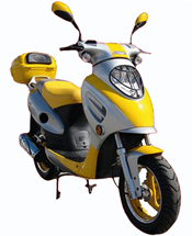 """SPORTY-150"" ROKETA 150cc Moped Scooter Fully Automatic with Dual Shocks & 12"" Tires (MC-07-150)"