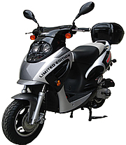 "ROKETA Sporty-50 Limited Edition 50cc Moped Scooter Fully Automatic with GY6 Long Case Engine, 12"" Big Tires (MC-07K-50)"