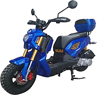 "ROKETA ZOOM-50 Moped Scooter Fully Automatic, LED Style Lights, High Performance Forks & Shocks,, 12"" Big Tires (MC-139-50)"