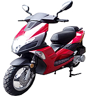 "ROKETA JET-50 Moped Scooter Fully Automatic, LED Style Lights, Dual Shock Absorbers, 12"" Big Tires (MC-140-50)"