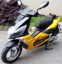 """99% Assembled ROKETA JET-150 Moped Scooter Fully Automatic, LED Style Lights, Dual Shock Absorbers, 12"""" Big Tires (MC-140-150). Free shipping to your door with a free scooter helmet."""